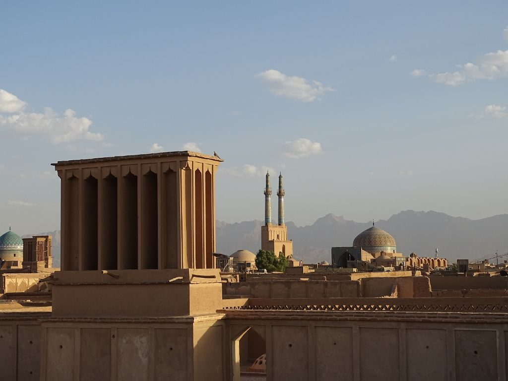 Blick über Yazd Iran