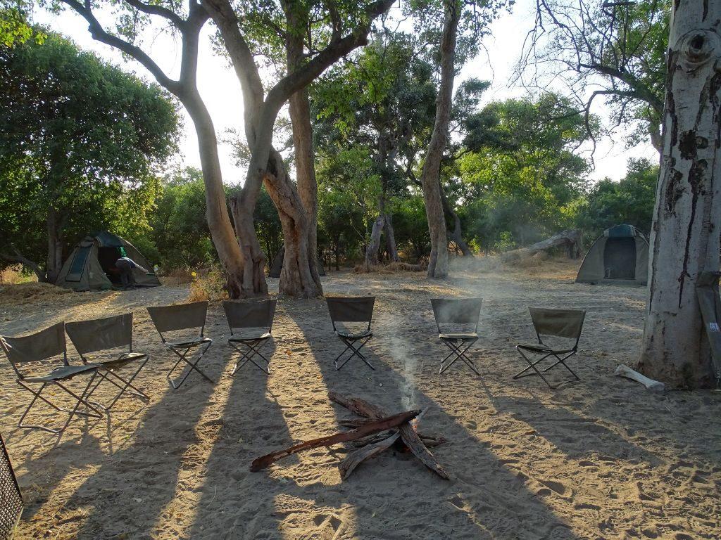 Campfire Moremi Botswana Campsite
