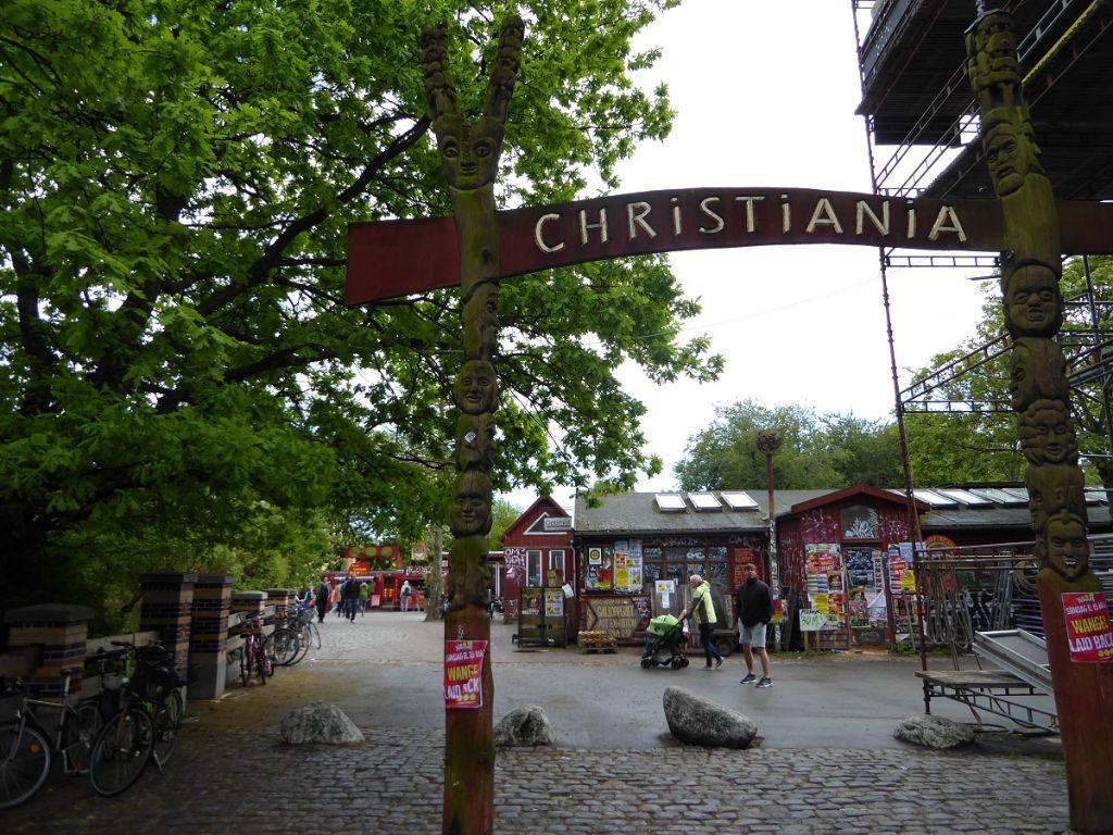 Christiana Eingang Kopenhagen