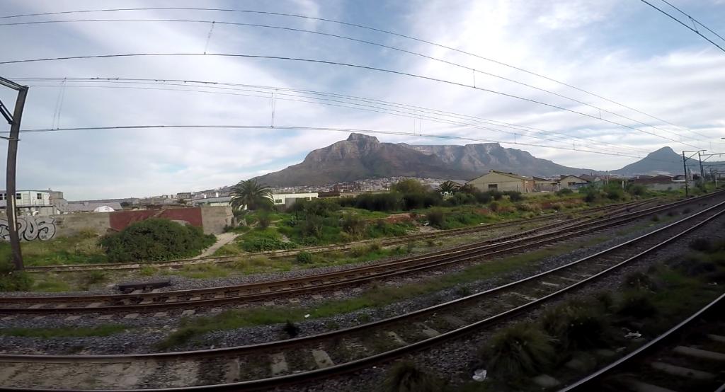Einfahrt nach Kapstadt