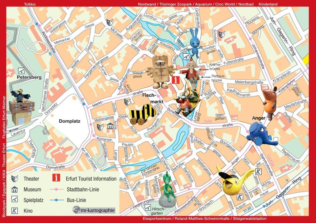 Erfurt Stadtplan Kinderfiguren