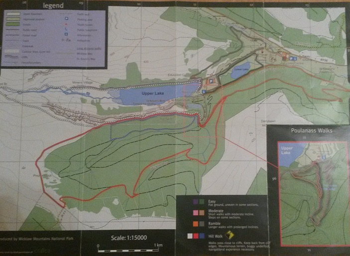 Wanderkarte Glendalough