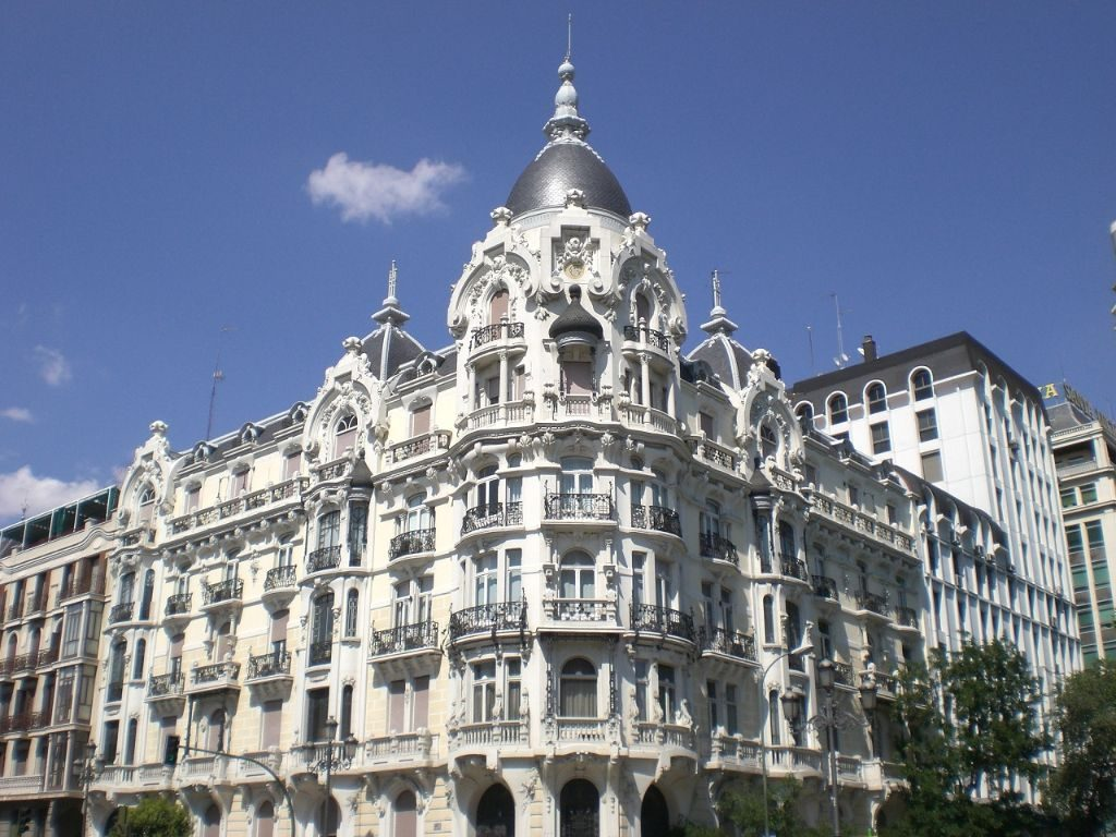 Madrid Spanien Backpacking