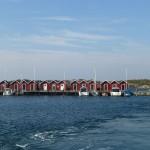 Göteborg rote Schwedenhäuser