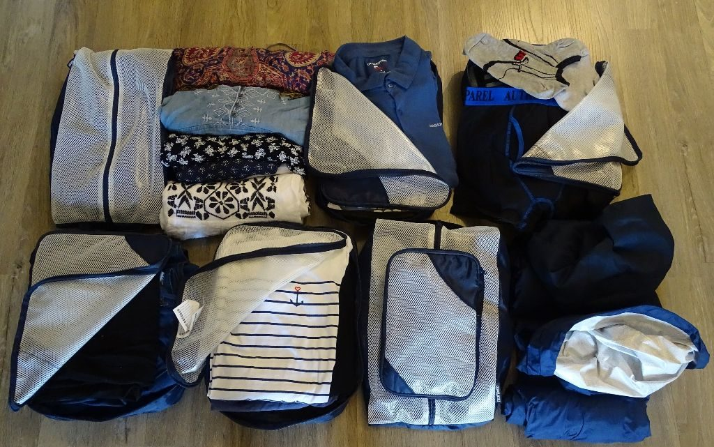 Packliste Weltreise Klamotten