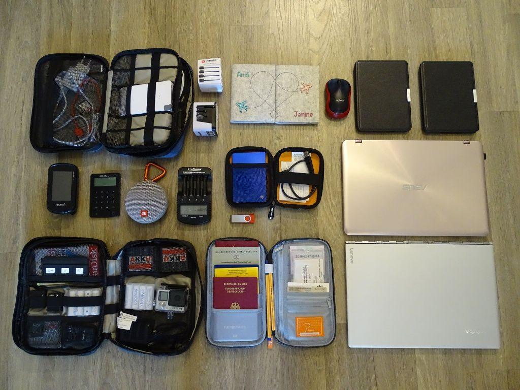 Packliste Weltreise Technik