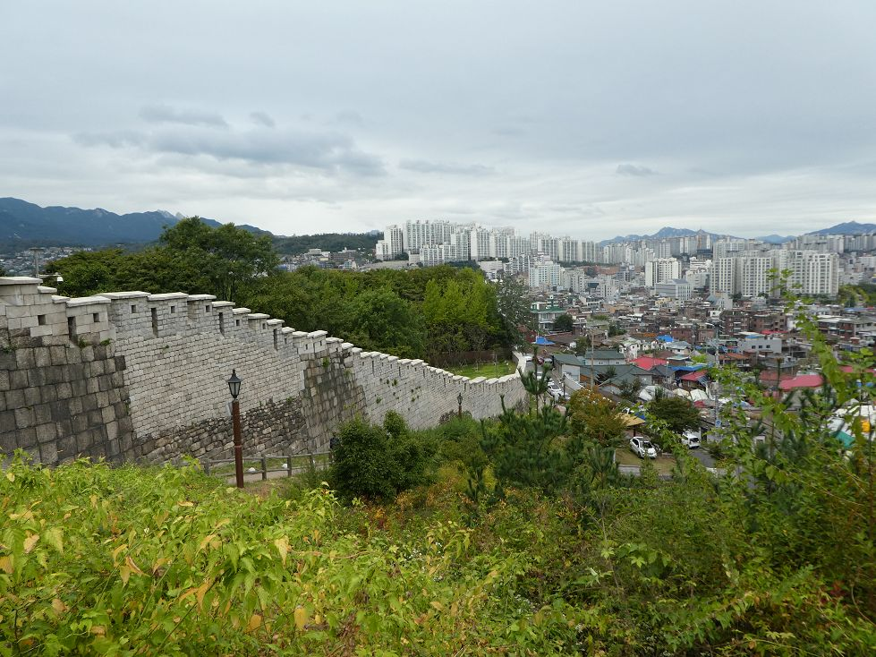 Stadtmauer in Seoul, Südkorea