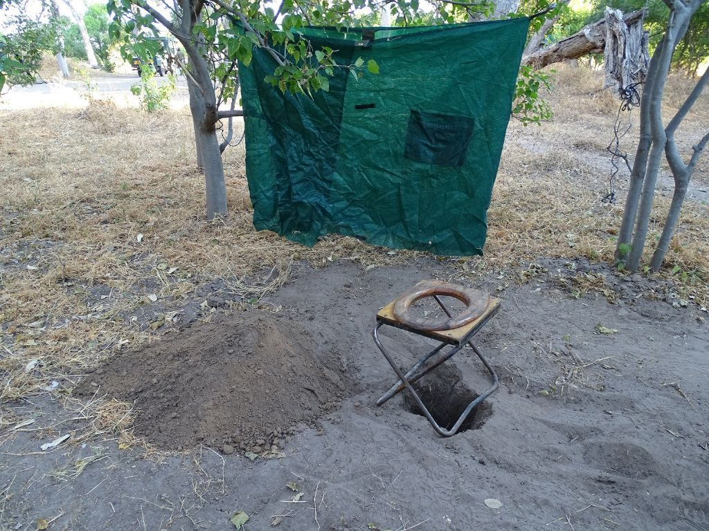 Toilette Camping Botswana Moremi Afrika
