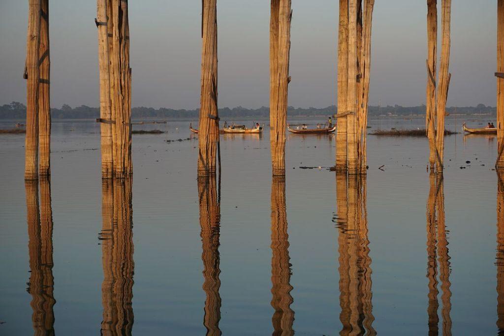 U Bein Brücke in Mandalay, Myanmar