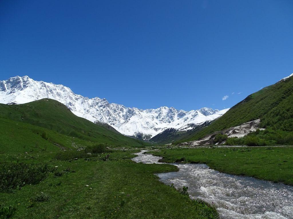 Ushguli Shkhara Gletscher Wanderung