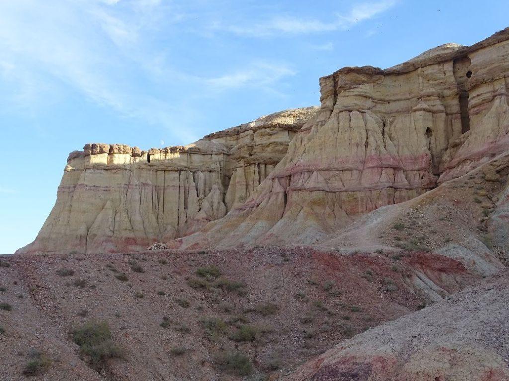 Landschaft Gobi Wüste Mongolei White Stupa