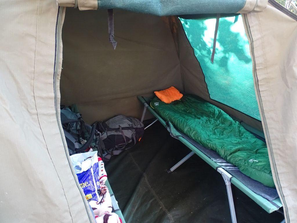 Zelt von Innen Camping Botswana
