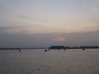 Sonnenaufgang auf dem Mekong